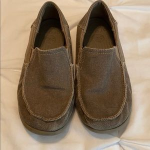 Junior size 2 slip on brown Crocs
